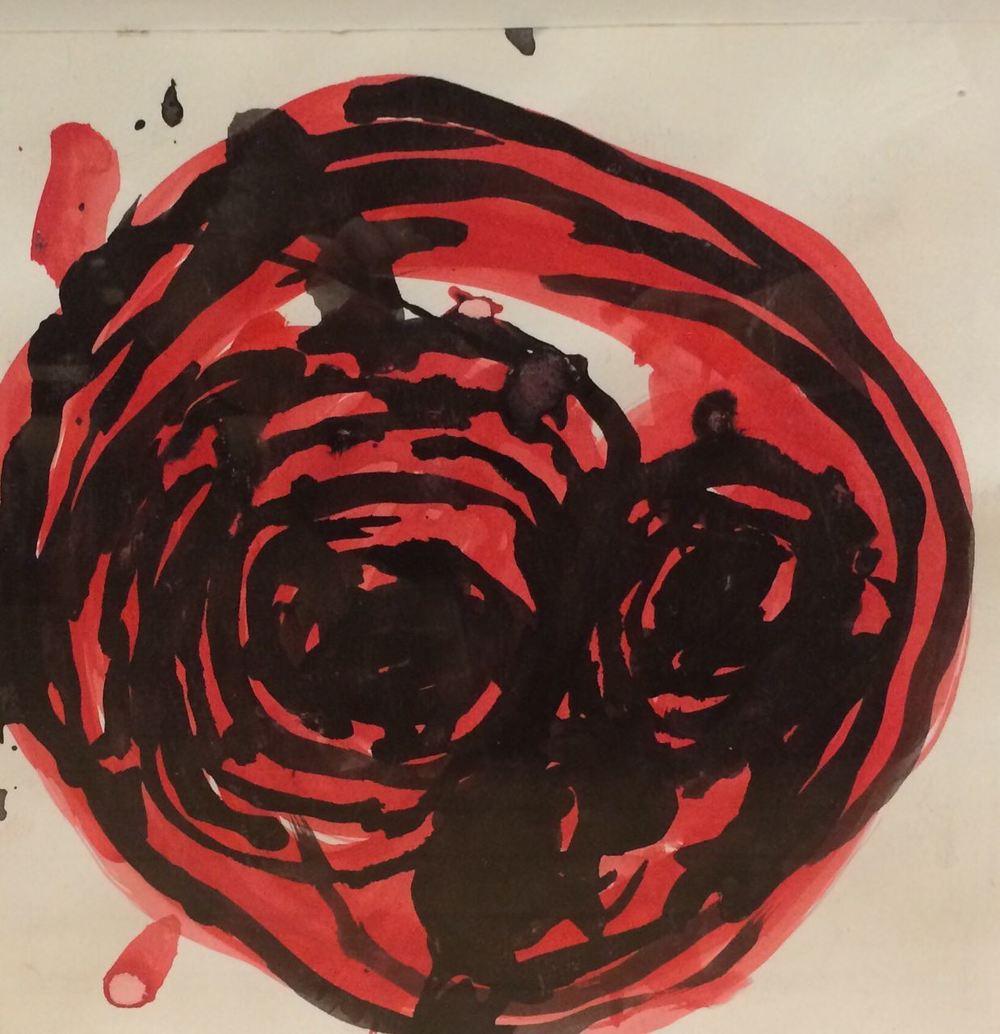 Joyce Frizell, Untitled, 2014,Acrylic on Paper, .JPG