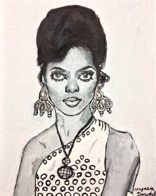 Myasia Dowdell, Diana Ross, 2013, Acrylic on Canvas.jpg