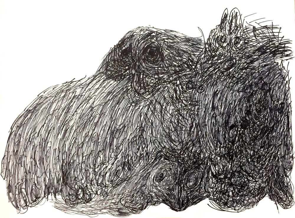 Rudy Bansrat, Untitled2, Ink on Paper, 18%22x24%22.JPG