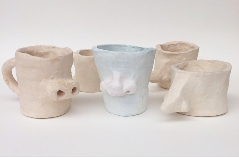 Raquel Albarran, Nose Mugs, 2014, Clay, Various Sizes