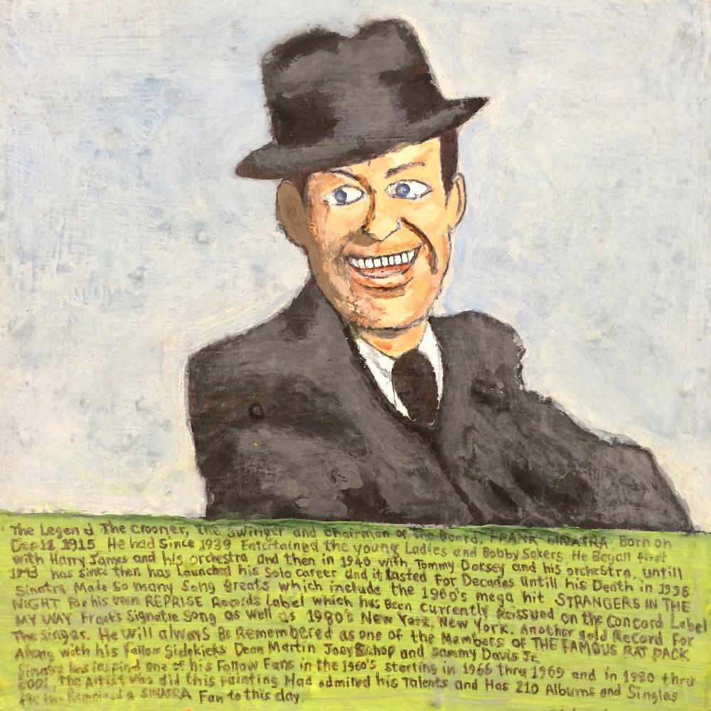 "Carlo Daleo, Frank Sinatra, 2013, Acrylic on Canvas, 8.5""x8.5"""