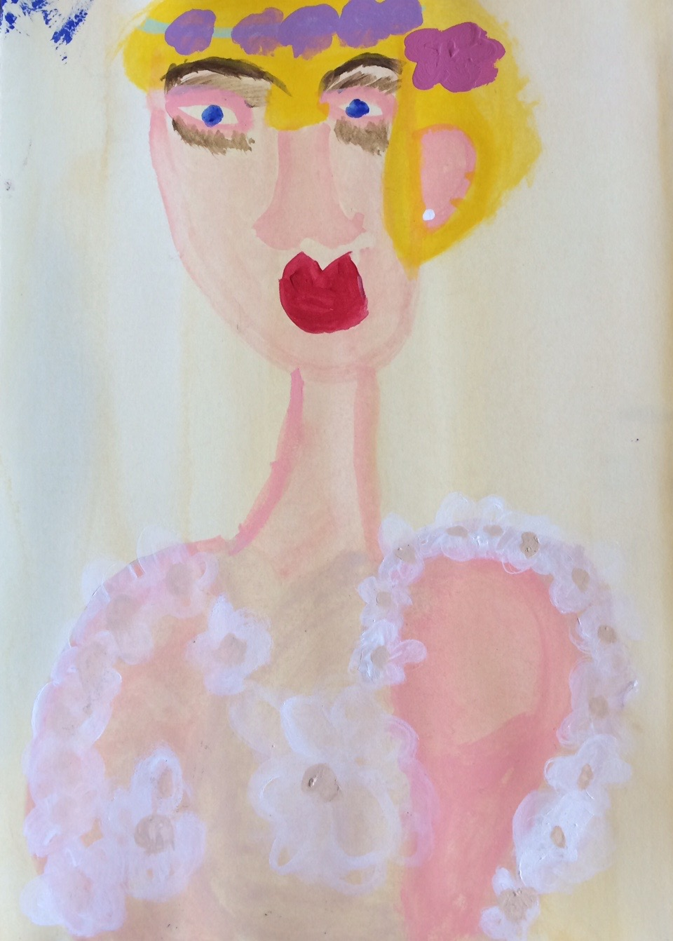 "Christine Lewis, Untitled, 2014, Mixed Media on Paper, 11""x9"""