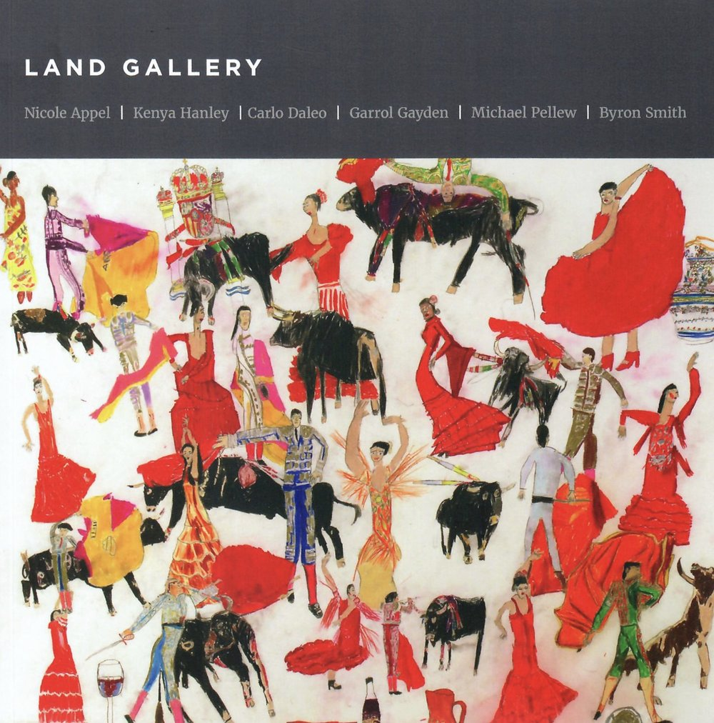 In conjunction with the Outsider Art Fair, LAND Gallery released its first art book. - The catalog features the work of Nicole Appel, Kenya Hanley, Carlo Daleo, Garrol Gayden, Michael Pellew, and Byron Smith. The 214-page book spans the artistic careers of six LAND artists and includes an introduction by Phillip March Jones. The book has 94 color reproductions, six bios, and a brief history of the studio.