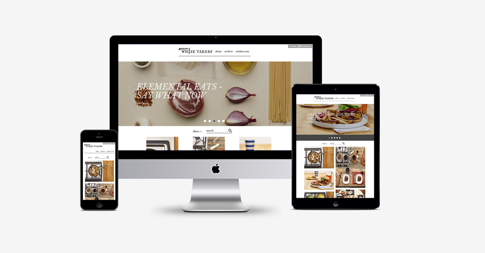 Of course, we made it fully-responsive so that the foodie can take it into the kitchen on the table or phone