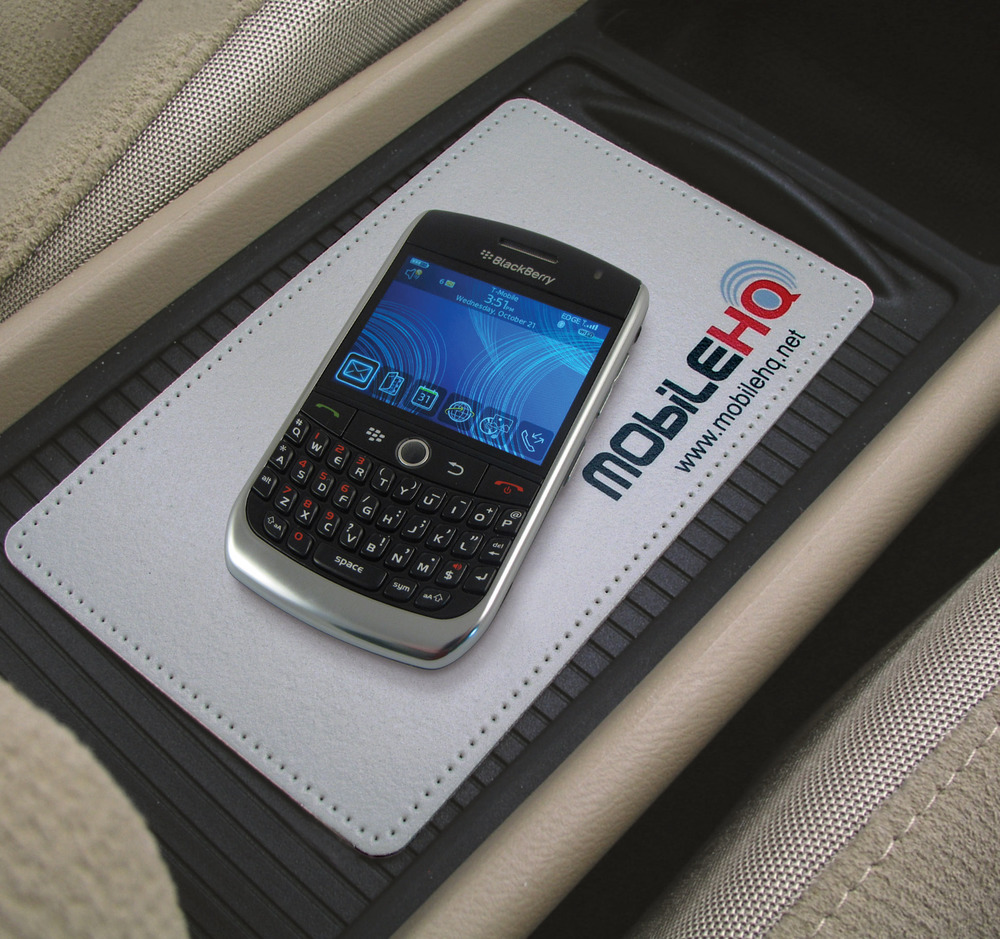 Sticky Pad® promotional product - Clings to your middle console to hold your smartphone.