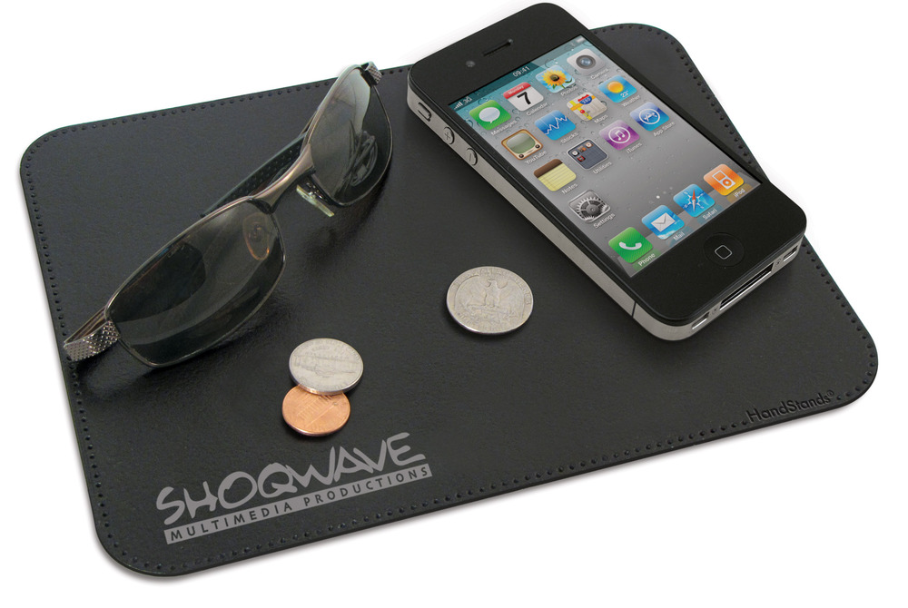 Sticky Pad® XL promotional product - Patented materials clings to your dash to hold digital devices, glasses, and spare change from slipping & sliding!