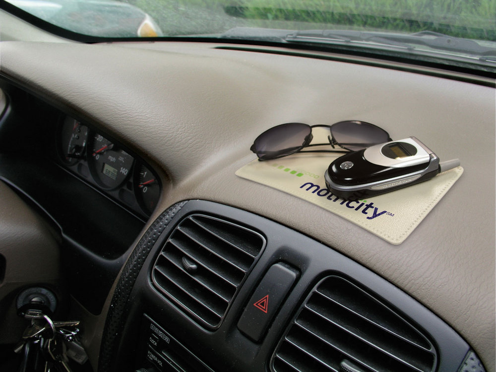 Sticky Pad® promotional product - Clings to your dash to hold your stash!