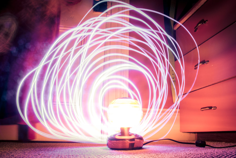 Light Painting - Create cool looking photos using flashlights, sparklers or even your phone's screen.
