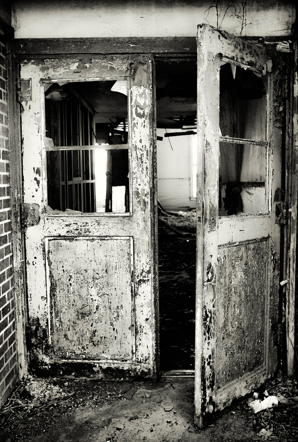 Doors to the abandoned school