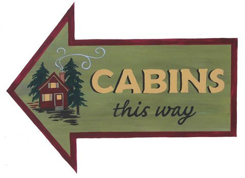 S247 - Cabins this Way Arrow