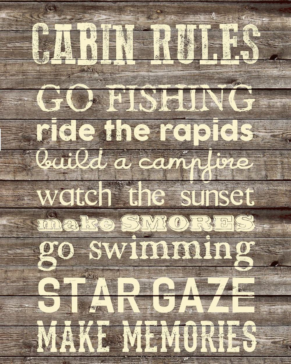 S416 cabin rules wood LR