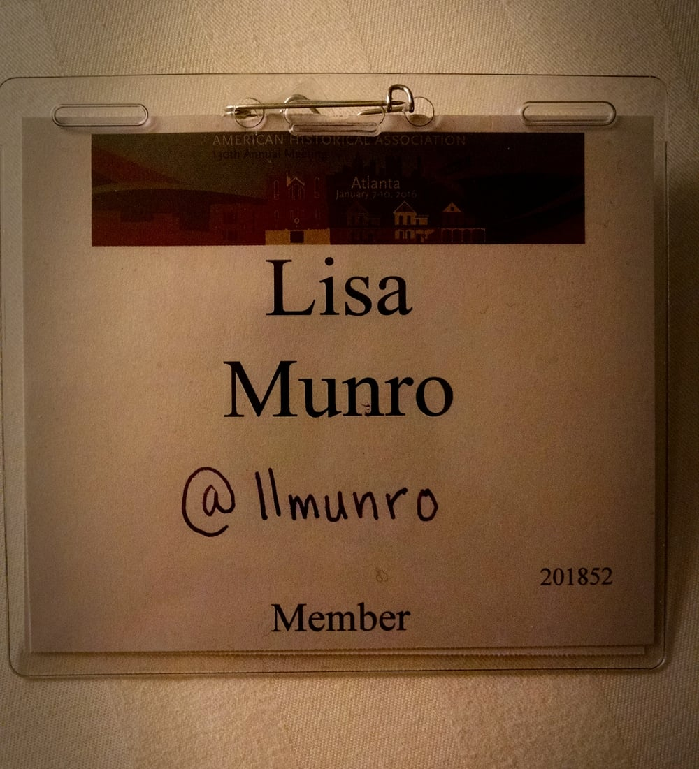 My defaced (or enhanced?) name badge