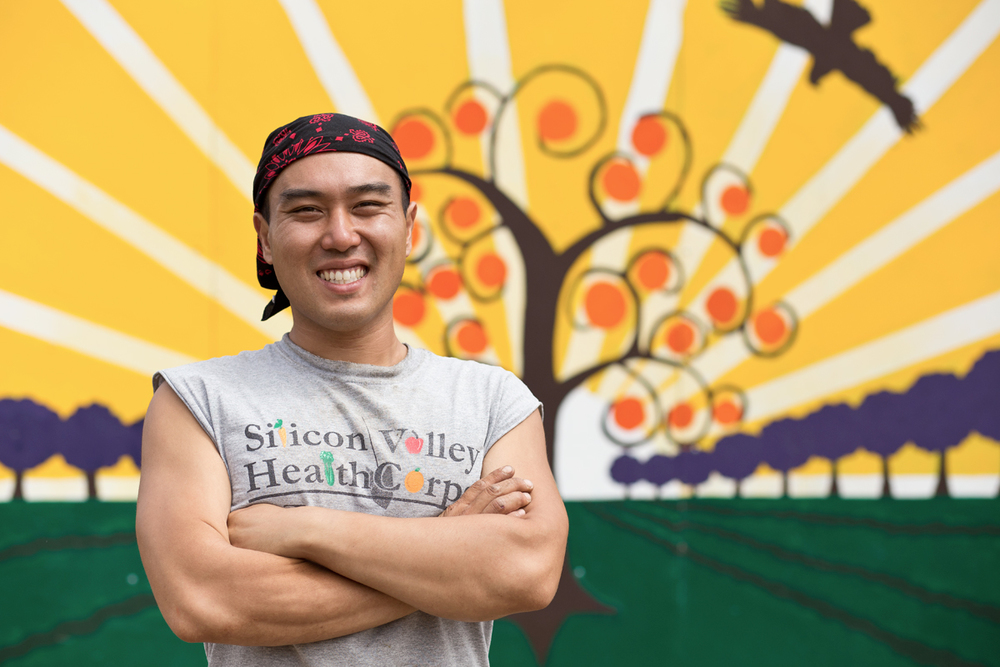 William Chen, Farm Manager of Full Circle Farm Sunnyvale