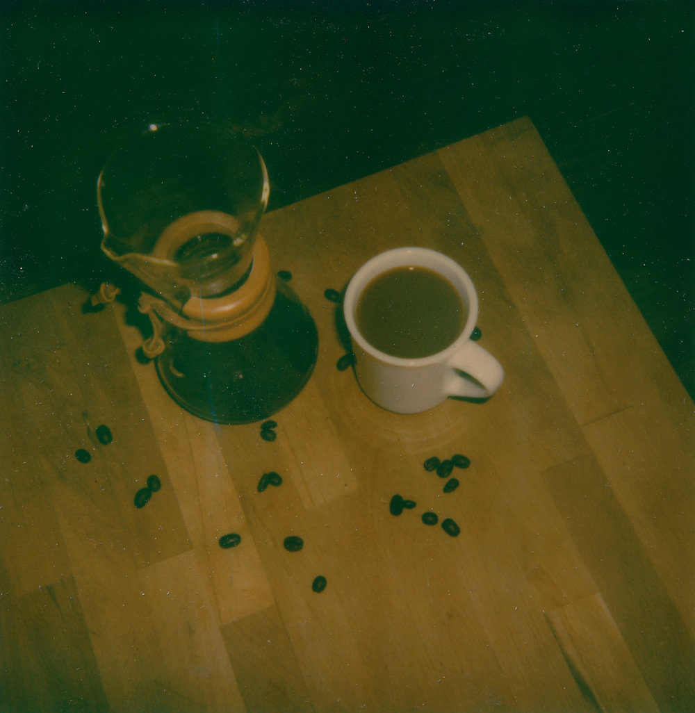 Chemex coffee - Polaroid 600