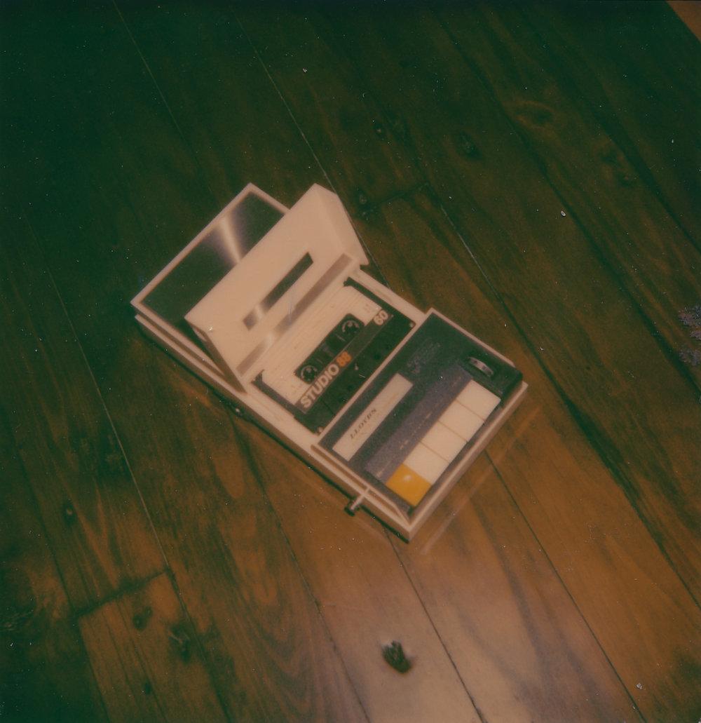 Lloyd's tape recorder - Polaroid 600