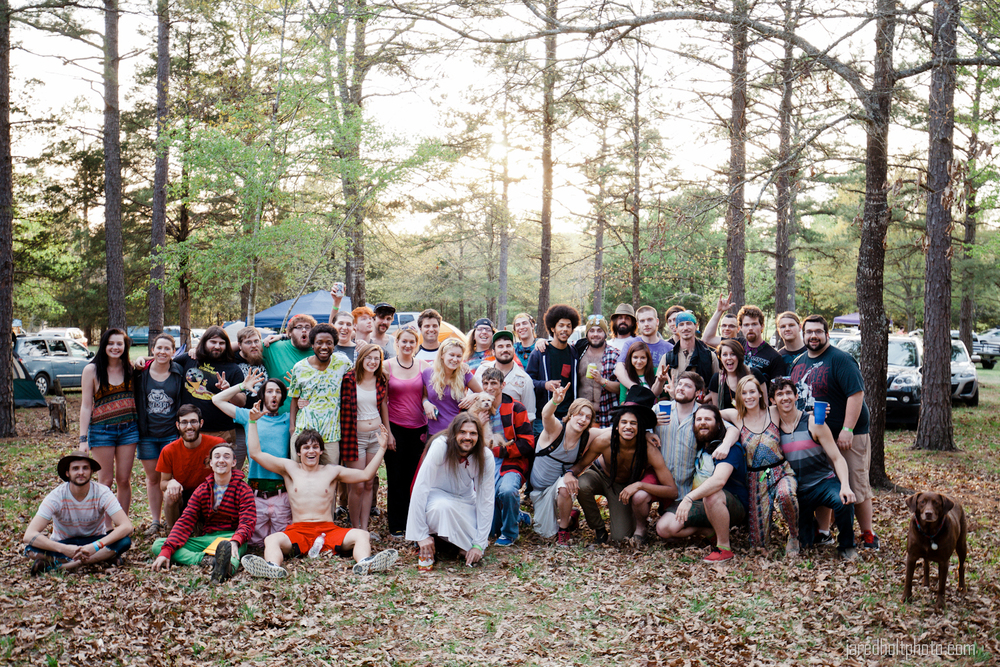 """What happened when I yelled """"group photo"""" in the middle of the campsites."""