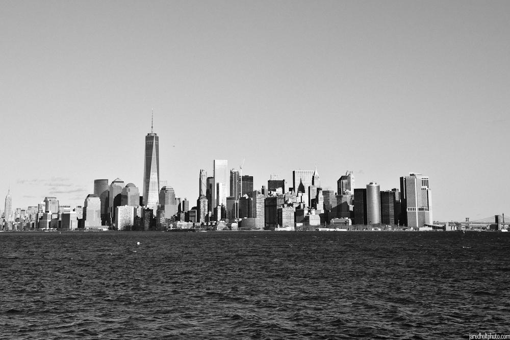 Skyline from Liberty Island