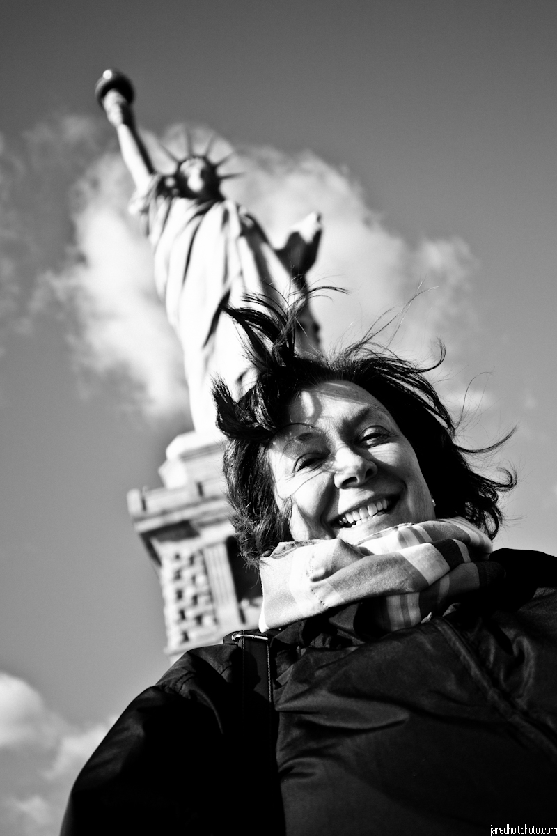 My mother and Lady Liberty