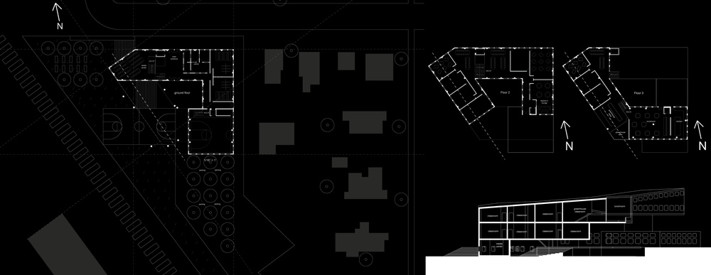 Site drawings with floorplans