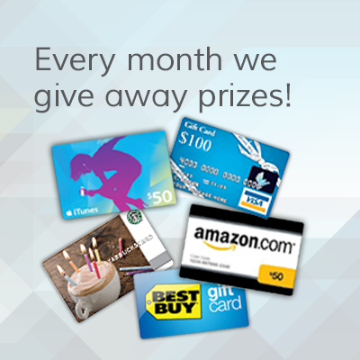Enter our Monthly Draw