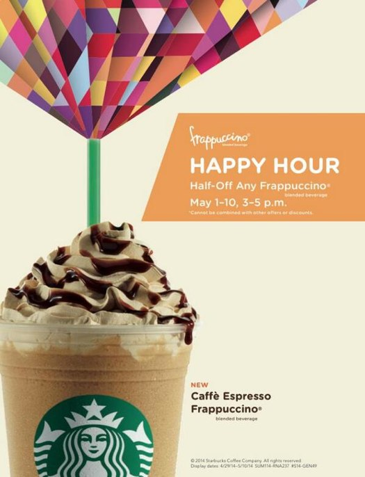 Happy Hour Starbucks Prices Starbucks Happy Hour 2015