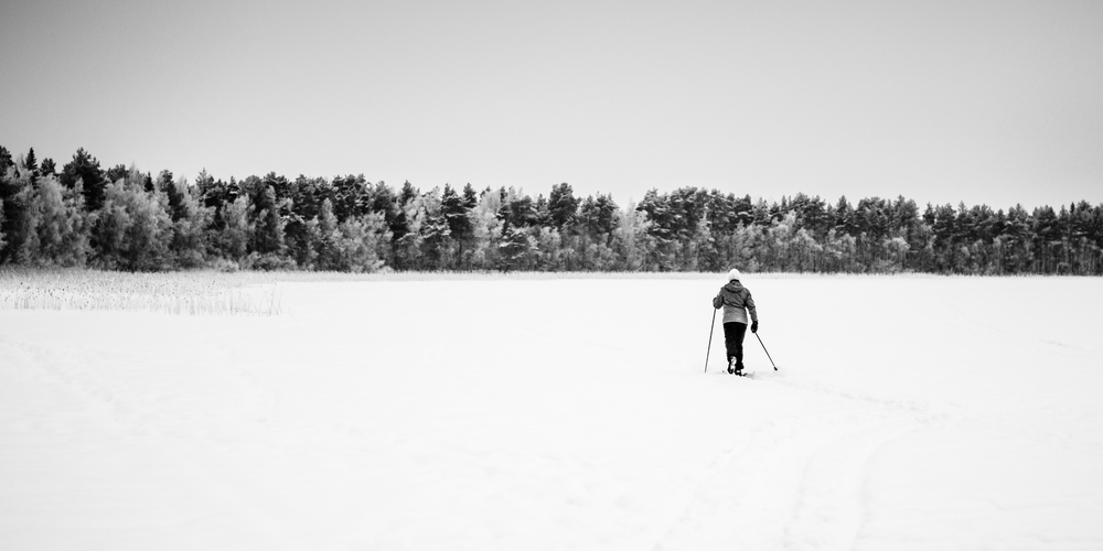 Day 013: The skier on the lake