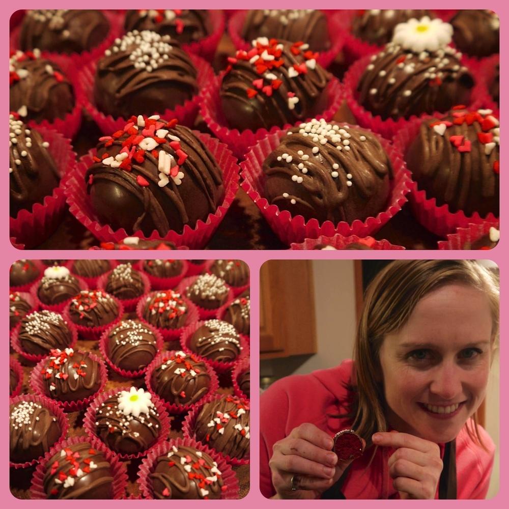 Valentine's Red Velvet Cake Balls