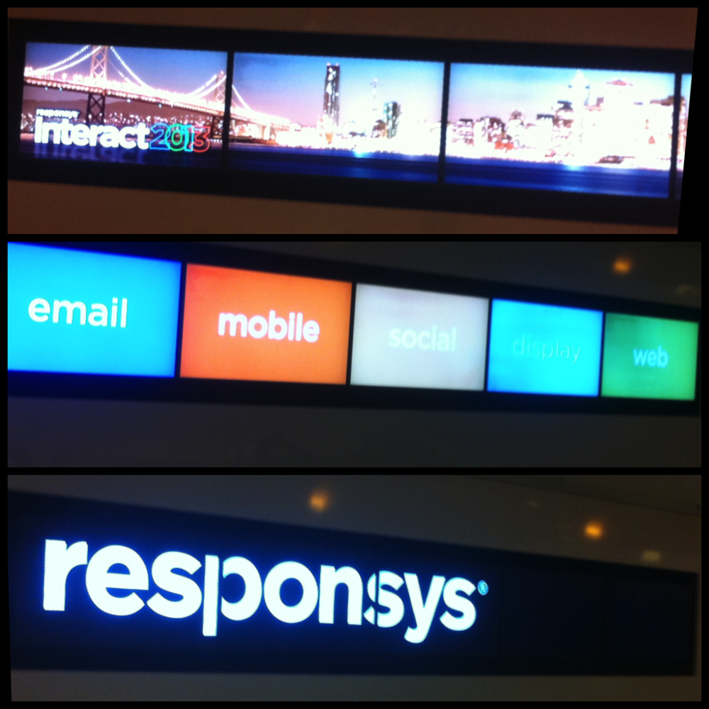 Responsys Interact 2013 Signage