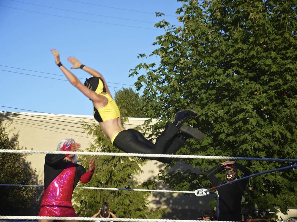 Flying Girl Luchador