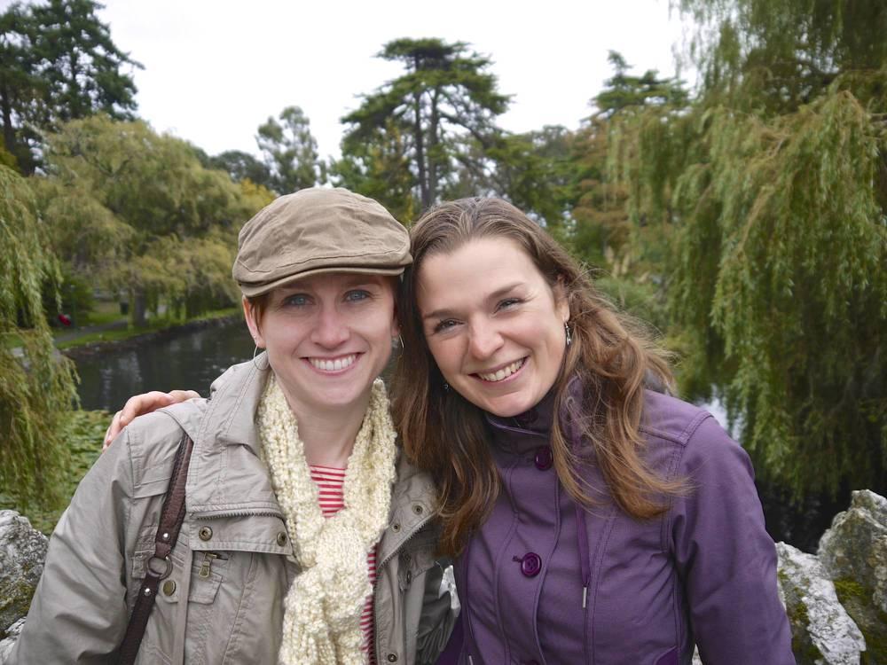 Heather & Irene at Beacon Hill Park