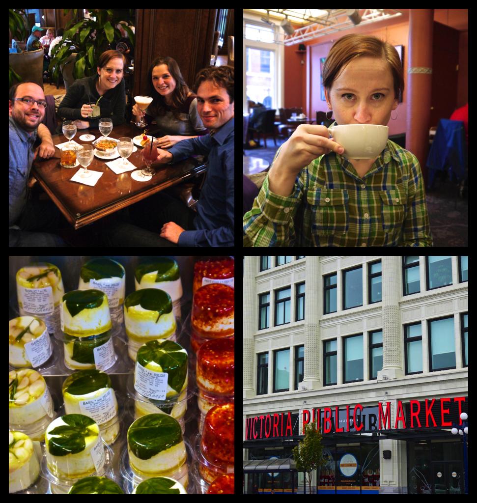 Bengal Lounge, Murchie's Tea, and Victoria Public Market
