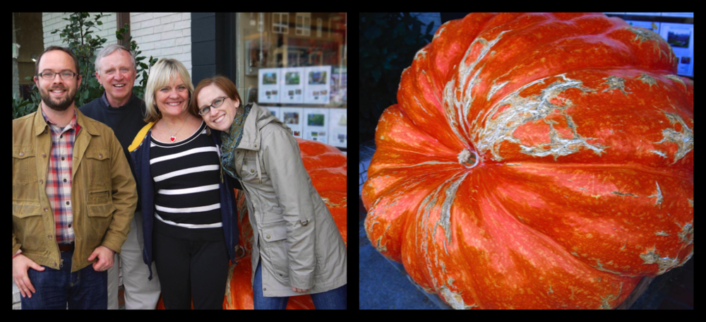 Standing around a BIG-ass pumpkin