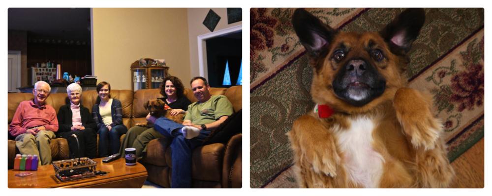 Family & Sammy, the dog