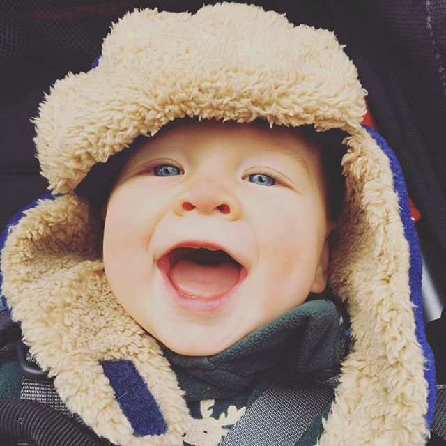 Baby it's cold outside! #babycalebbrown
