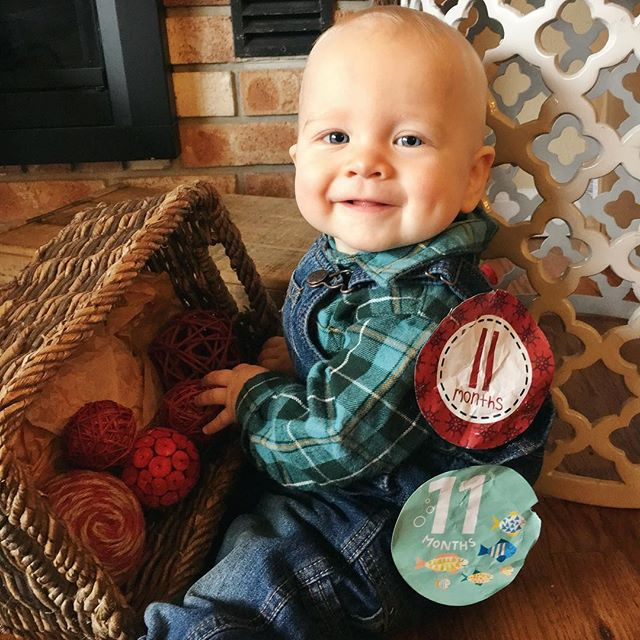 This guy turned 11 months today! Oye, photos were rough - nonstop these days! #babycalebbrown