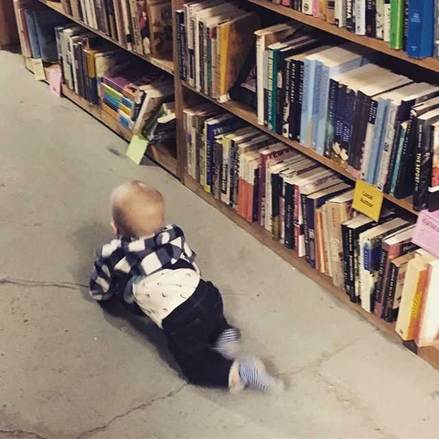 Cruising the shelves. What shall I read today? #babycalebbrown