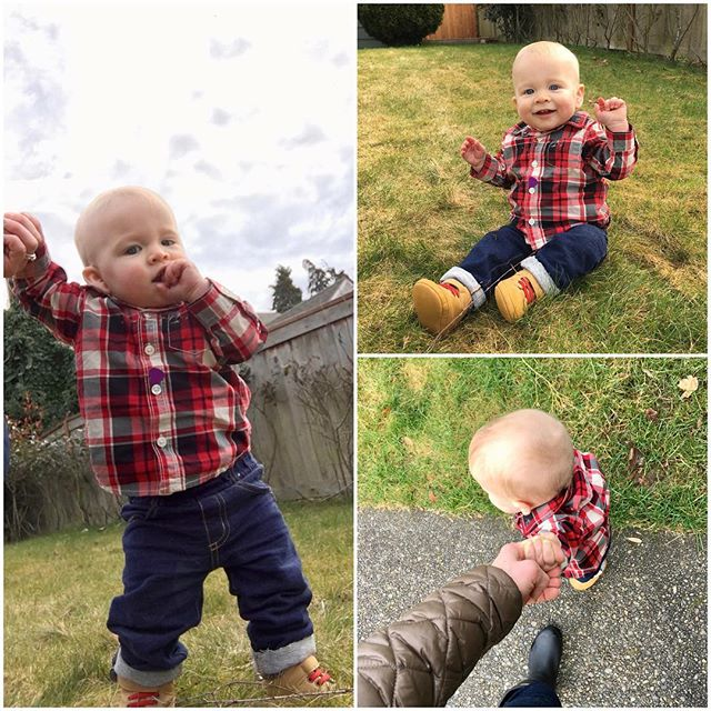 The great outdoors #babycalebbrown