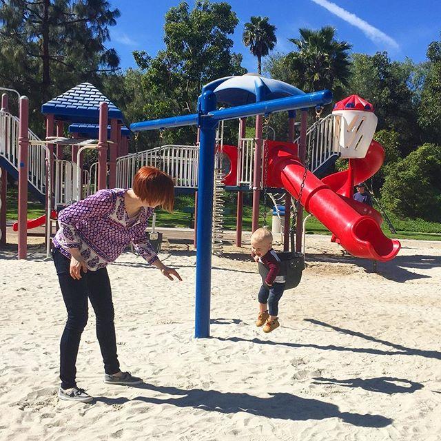 Caleb enjoyed the park his mama used to enjoy as a kid #babycalebbrown