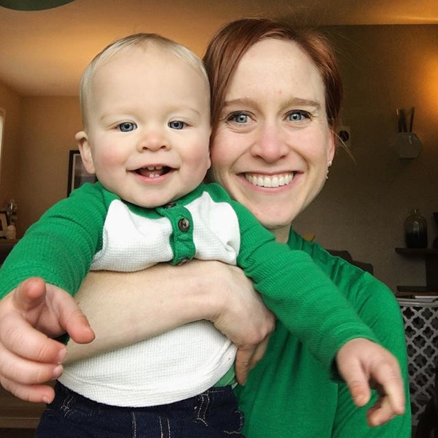 "Don't pinch us... ""we're wearing our green! Happy St. Patrick's Day 🍀"