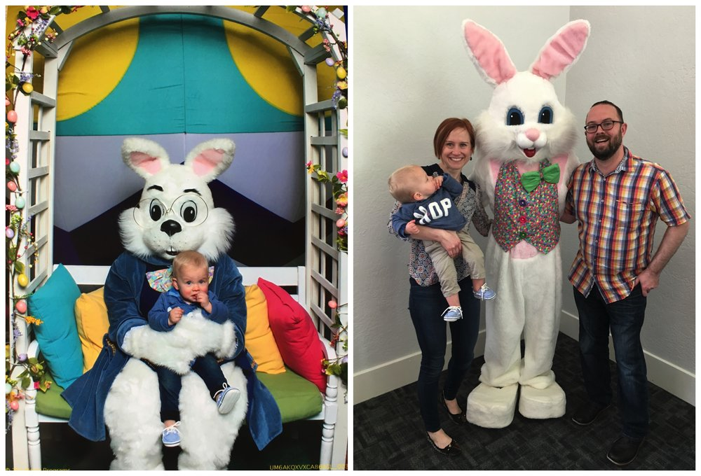 Easter Bunny - at the mall, and at church