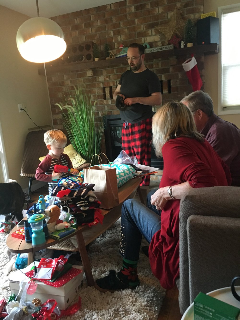 Chaos of Opening Gifts