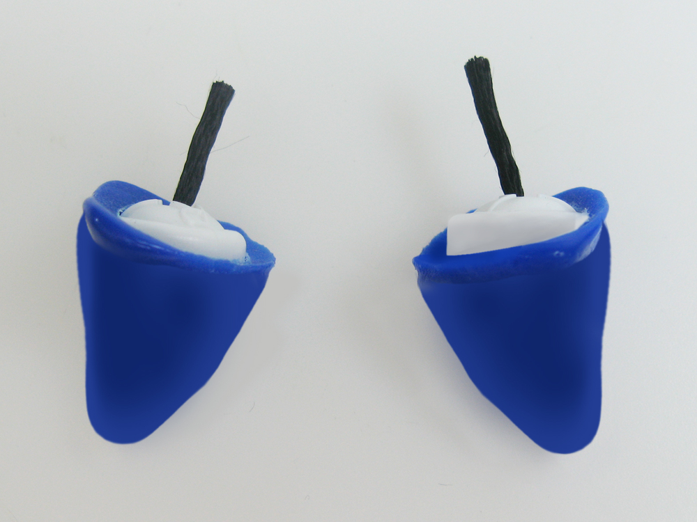 ZenPlugs After Molding.  Super comfortable swimming ear plugs, ear plugs for surfing, sleeping, snoring.