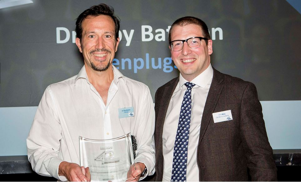 ZenPlugs Inventor Dr Toby Bateson Wins Insider South West Entrepreneur Of The Year Award