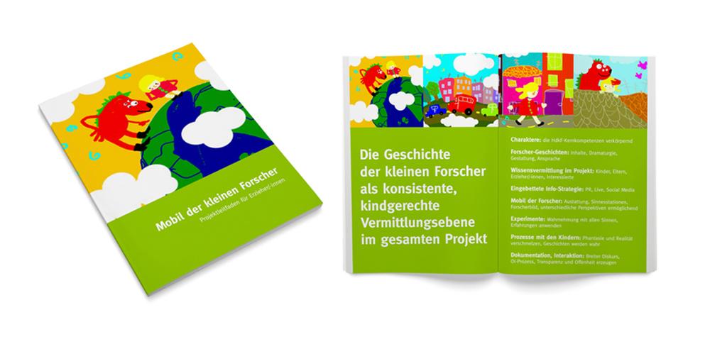 Teil des Informations-Paketes, mit dem Erzieher/-innen vor dem Start des Projektes über die Inhalte und Ziele informiert wurden