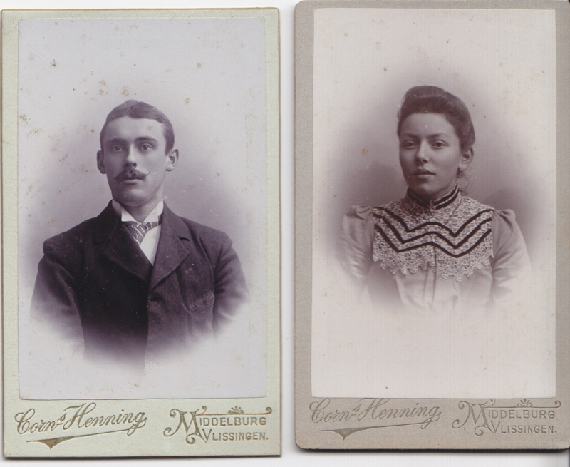 My great grandparents. Bernardus Pluymers and Tannetjie Elizabeth Mary van de Woestijne.