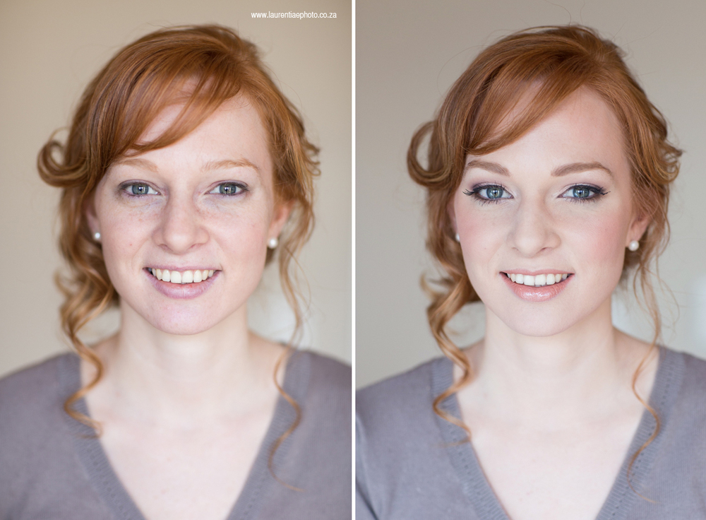 Before & after bridal makeup