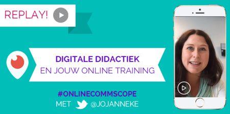 OnlineCommScope digitale didactiek Jojanneke