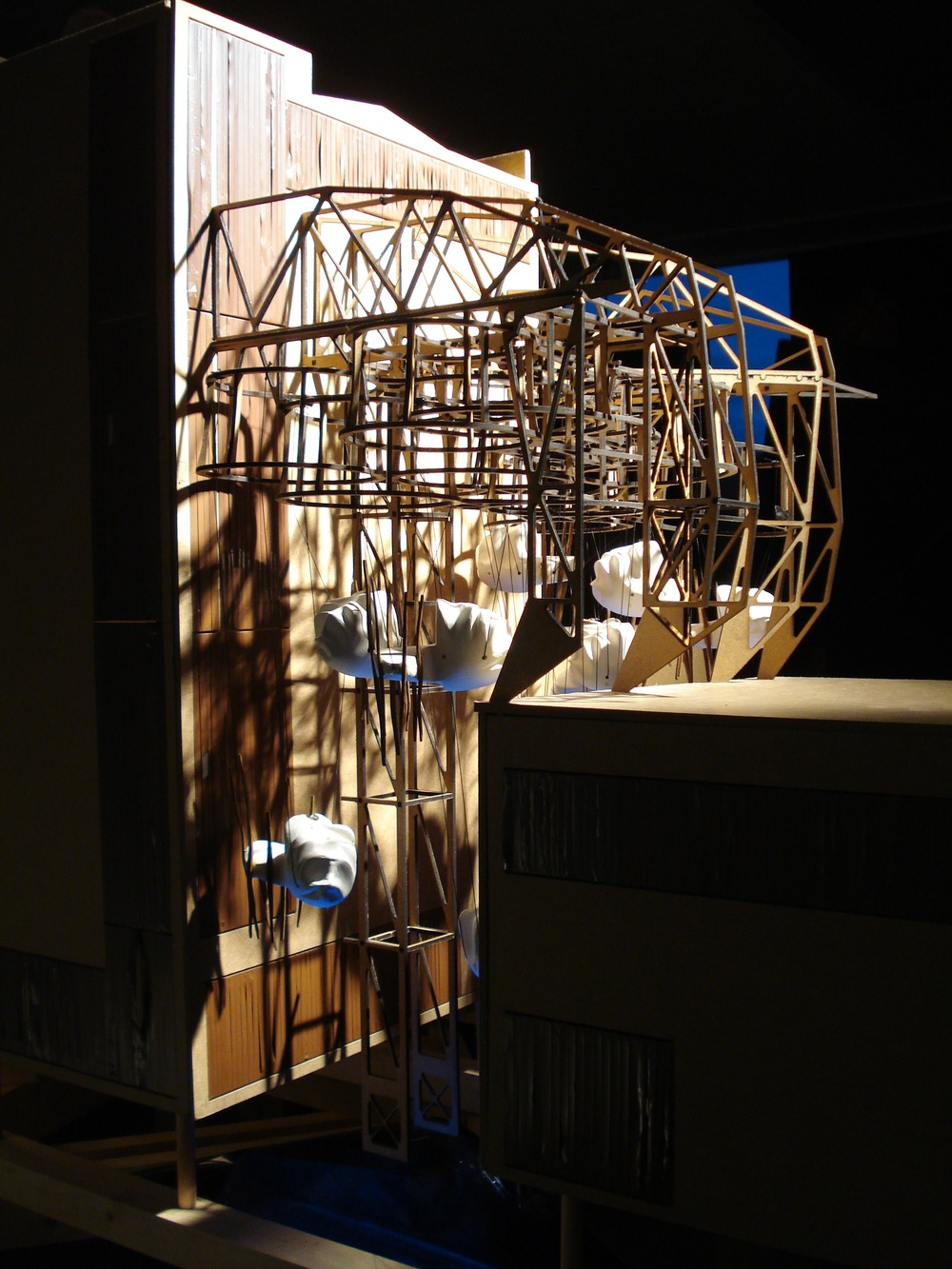 Boarding House, model, medium-density fibreboard and porcelain, 2008