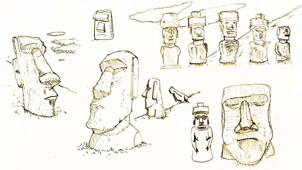 Thumbnail Sketches of Maoi by VxD    CC BY-SA 2.5 , via Wikimedia Commons