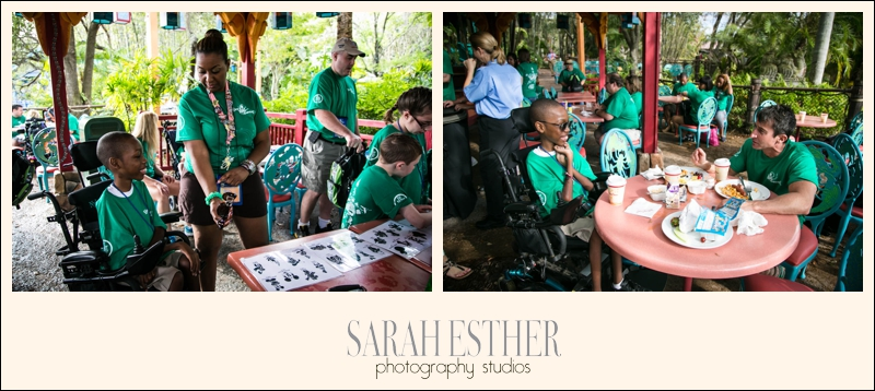 Our second day was spent at Animal Kingdom. Ziyonn is getting a tattoo with BBA Staff's Erin in the first picture. In the second image Ziyonn and Bert have switched sunglasses and are working on a music deal for Jay-Z :)